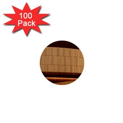Architecture Art Boxes Brown 1  Mini Buttons (100 Pack)