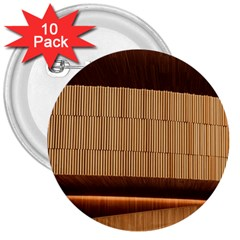 Architecture Art Boxes Brown 3  Buttons (10 Pack)