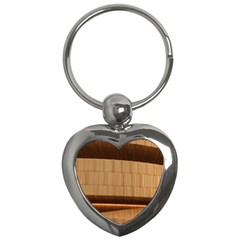 Architecture Art Boxes Brown Key Chains (heart)