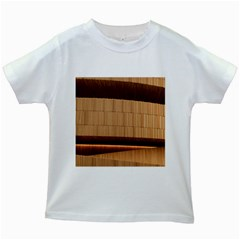 Architecture Art Boxes Brown Kids White T Shirts