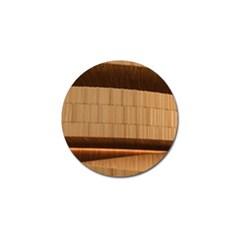 Architecture Art Boxes Brown Golf Ball Marker