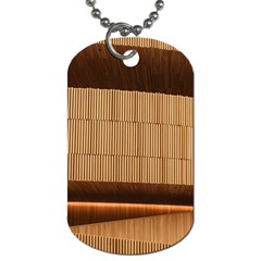 Architecture Art Boxes Brown Dog Tag (two Sides)