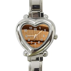 Architecture Art Boxes Brown Heart Italian Charm Watch