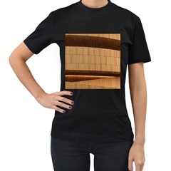 Architecture Art Boxes Brown Women s T Shirt (black) (two Sided)