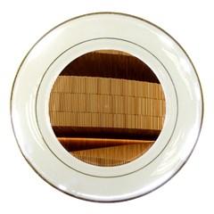 Architecture Art Boxes Brown Porcelain Plates