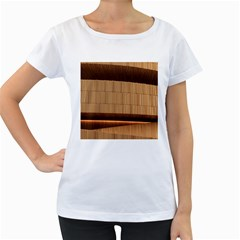 Architecture Art Boxes Brown Women s Loose-Fit T-Shirt (White)