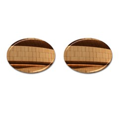 Architecture Art Boxes Brown Cufflinks (oval)