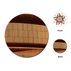 Architecture Art Boxes Brown Playing Cards (round)