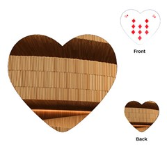Architecture Art Boxes Brown Playing Cards (heart)