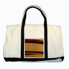Architecture Art Boxes Brown Two Tone Tote Bag