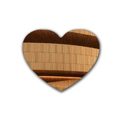 Architecture Art Boxes Brown Heart Coaster (4 Pack)