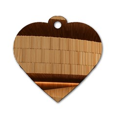 Architecture Art Boxes Brown Dog Tag Heart (two Sides)