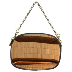 Architecture Art Boxes Brown Chain Purses (two Sides)