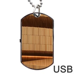 Architecture Art Boxes Brown Dog Tag Usb Flash (one Side)