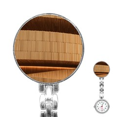 Architecture Art Boxes Brown Stainless Steel Nurses Watch