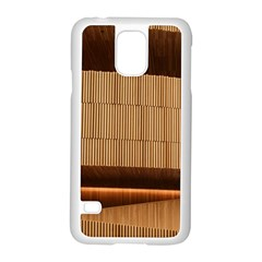Architecture Art Boxes Brown Samsung Galaxy S5 Case (White)
