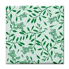 Leaves Foliage Green Wallpaper Tile Coasters