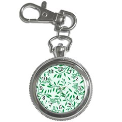 Leaves Foliage Green Wallpaper Key Chain Watches