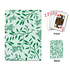 Leaves Foliage Green Wallpaper Playing Card
