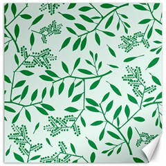 Leaves Foliage Green Wallpaper Canvas 12  X 12