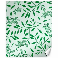 Leaves Foliage Green Wallpaper Canvas 16  X 20