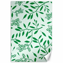 Leaves Foliage Green Wallpaper Canvas 20  X 30