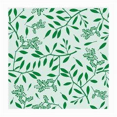 Leaves Foliage Green Wallpaper Medium Glasses Cloth
