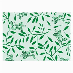 Leaves Foliage Green Wallpaper Large Glasses Cloth (2 Side)