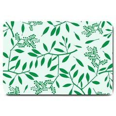 Leaves Foliage Green Wallpaper Large Doormat