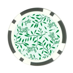 Leaves Foliage Green Wallpaper Poker Chip Card Guards