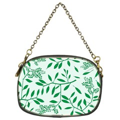 Leaves Foliage Green Wallpaper Chain Purses (two Sides)