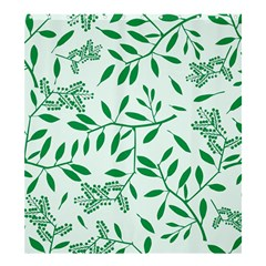 Leaves Foliage Green Wallpaper Shower Curtain 66  X 72  (large)