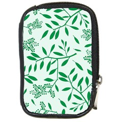 Leaves Foliage Green Wallpaper Compact Camera Cases