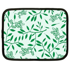 Leaves Foliage Green Wallpaper Netbook Case (xl)