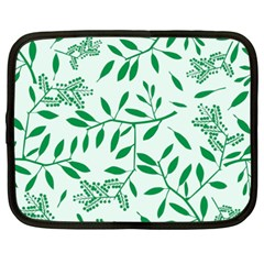 Leaves Foliage Green Wallpaper Netbook Case (xxl)
