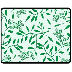 Leaves Foliage Green Wallpaper Fleece Blanket (medium)