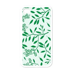 Leaves Foliage Green Wallpaper Apple Iphone 4 Case (white)