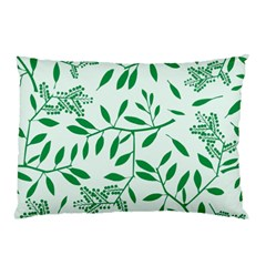 Leaves Foliage Green Wallpaper Pillow Case (two Sides)