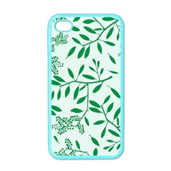 Leaves Foliage Green Wallpaper Apple Iphone 4 Case (color)