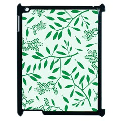 Leaves Foliage Green Wallpaper Apple Ipad 2 Case (black)