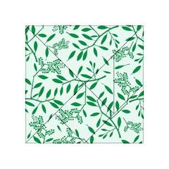 Leaves Foliage Green Wallpaper Acrylic Tangram Puzzle (4  X 4 )