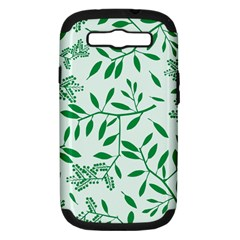 Leaves Foliage Green Wallpaper Samsung Galaxy S Iii Hardshell Case (pc+silicone)