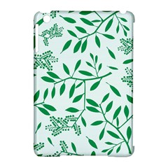 Leaves Foliage Green Wallpaper Apple Ipad Mini Hardshell Case (compatible With Smart Cover)