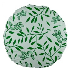 Leaves Foliage Green Wallpaper Large 18  Premium Round Cushions