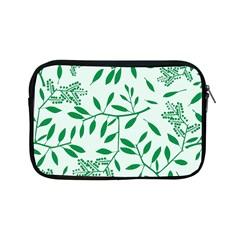 Leaves Foliage Green Wallpaper Apple Ipad Mini Zipper Cases