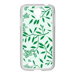 Leaves Foliage Green Wallpaper Samsung Galaxy S4 I9500/ I9505 Case (white)