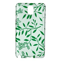 Leaves Foliage Green Wallpaper Samsung Galaxy Note 3 N9005 Hardshell Case