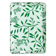 Leaves Foliage Green Wallpaper Kindle Fire Hdx Hardshell Case