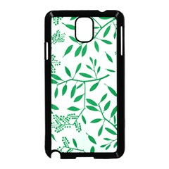 Leaves Foliage Green Wallpaper Samsung Galaxy Note 3 Neo Hardshell Case (black)