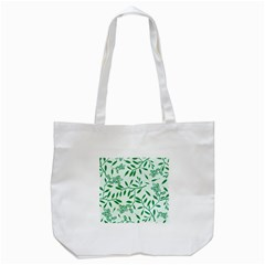 Leaves Foliage Green Wallpaper Tote Bag (White)